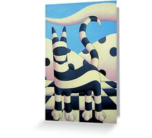 Genetic cat 2 in polkascape with tiles Greeting Card