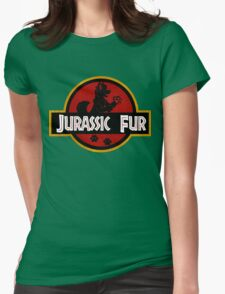 Jurassic Fur Womens Fitted T-Shirt