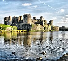 Caerphilly Castle 4 by Brian Beckett