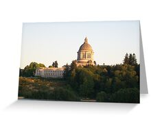 The Capitol A-glow Greeting Card