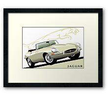 E-Type Jaguar Series 1 Roadster Old Englsh White Framed Print