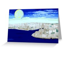 MALTA GRAND HARBOUR Greeting Card