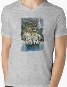 Snow Paws Mens V-Neck T-Shirt