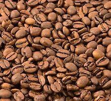 Roasted Arabica Coffee Beans - Brown  by sitnica