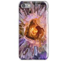 Abstract colorful textured rose iPhone Case/Skin