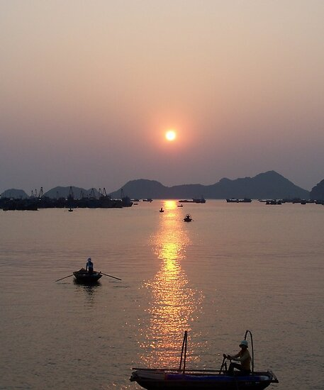 sunset at Cat Ba Island by BeMyGoodTime