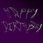 Happy Birthday-delicate typography by Sherony Lock