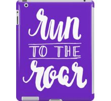 Run to the Roar - White iPad Case/Skin