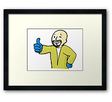 FALLOUT / BREAKING BAD - Heisenberg Vault Boy  Framed Print