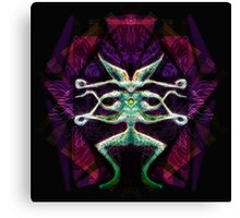 If Aliens Did Stained Glass Canvas Print