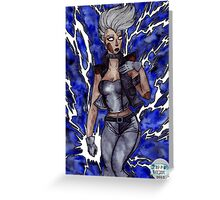 You afraid of a little thunder? Greeting Card