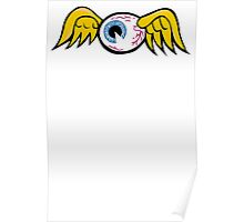 Flying Eyeball Poster