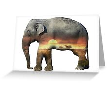 Habitat in Elephant  Greeting Card