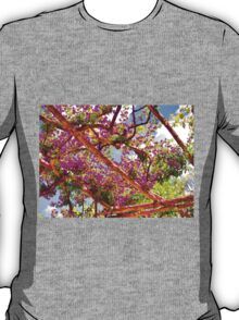 Positano's Purple Bougainvillaes Trellis T-Shirt