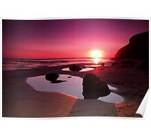 Cornwall Sunset Poster