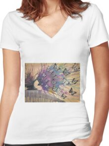industrial  Women's Fitted V-Neck T-Shirt