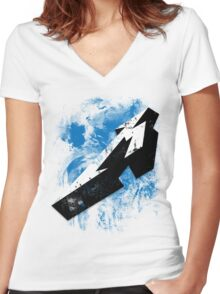 Pop Grunge: Metallica Women's Fitted V-Neck T-Shirt