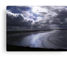 Full Moon over Saunton Sands - Devon UK Canvas Print