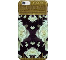 Cool roses in a gold landscape iPhone Case/Skin