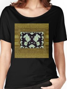 Cool roses in a gold landscape Women's Relaxed Fit T-Shirt