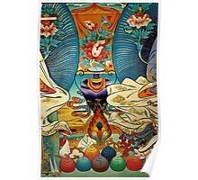 tibetan wall painting. northern india Poster