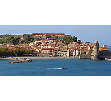 Panorama of a coastal Mediterranean village Photographic Print