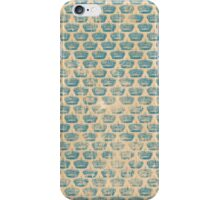 Vintage Alice in Wonderland Crown Pattern iPhone Case/Skin