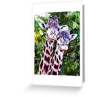 Double Spots Greeting Card