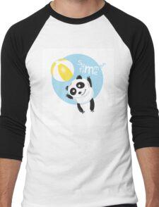 Summer panda. Men's Baseball ¾ T-Shirt