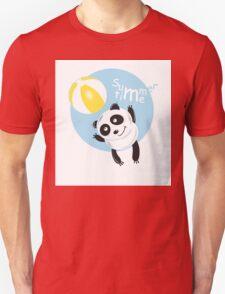 Summer panda. Unisex T-Shirt