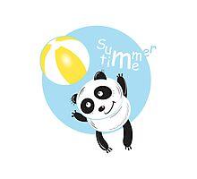 Summer panda. Photographic Print