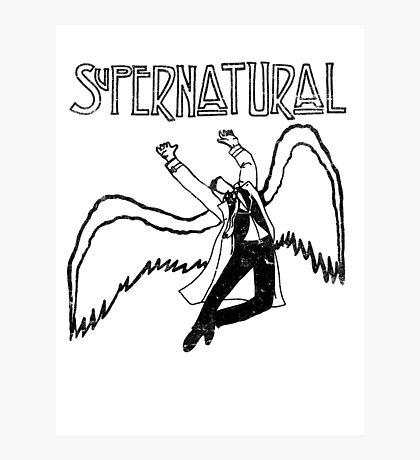 Supernatural Thrusting Angel Photographic Print