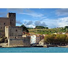 Coastal landscape the royal castle of Collioure Photographic Print