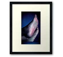 Candid Feet Relaxing Framed Print