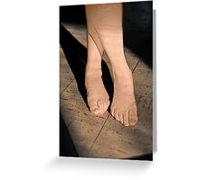Bare Feet Standing in Sunlight Greeting Card