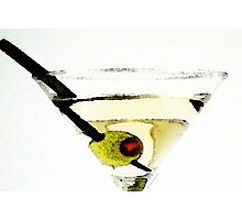 Martini With Green Olive Photographic Print