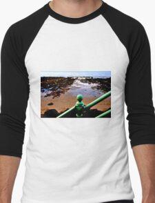 Green Rail Men's Baseball ¾ T-Shirt