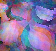 Translucent soft coloured fractal abstract  by walstraasart