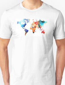 Map of The World 8 -Colorful Abstract Art T-Shirt
