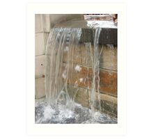 Waterfall in the City Art Print