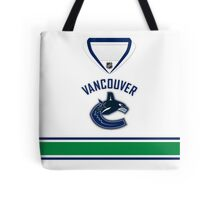 Vancouver Canucks Away Jersey Tote Bag
