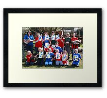 Keep Us Going Campaign Framed Print