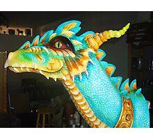 Teal Dragon Photographic Print