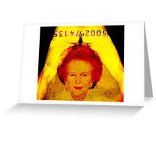 sliced thatch Greeting Card