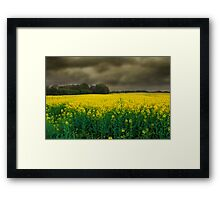 Storm is on its Way Framed Print