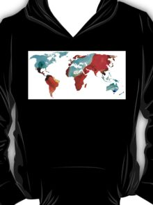 Map of The World 4 -Colorful Abstract Art T-Shirt