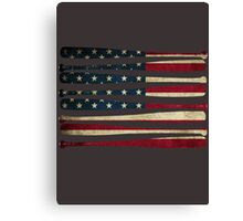 America baseball flag Canvas Print
