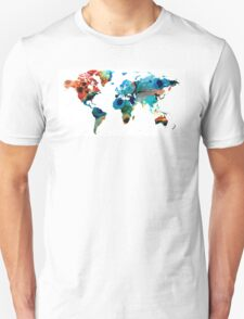 Map of The World 6 -Colorful Abstract Art T-Shirt