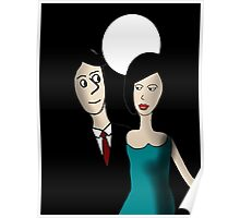 Walking under the Moon Poster