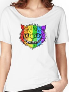 Rainbow Cheshire Cat Women's Relaxed Fit T-Shirt